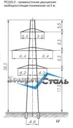 Металлические решетчатые опоры ЛЭП