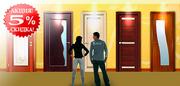 Скидка на двери,  обои и ламинат от 5%